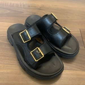 Gucci Men's Aguru Buckle Slide Sandals SIZE 10